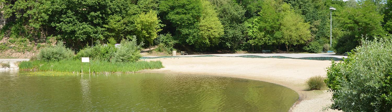 Plages de sable et d'herbe sur le site le Watissart